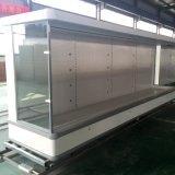 Refrigerador vertical do Showcase da bebida da leiteria do supermercado