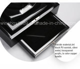 Boîte-cadeau vernie acrylique de pièce de monnaie de forces de défense principale de luxe à extrémité élevé