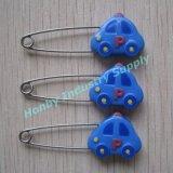 素晴らしいデザイン青い車47mmの鋼鉄赤ん坊のおむつ安全ピン