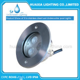 Lámpara ligera subacuática ahuecada LED de la piscina del poder más elevado de DC24V 9W IP68