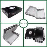 Envío negro modificado para requisitos particulares insignia reciclable de la caja de cartón