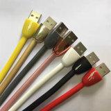 Nudel-Typ glattes USB-Mikro, Blitz und Typ-c Daten-Kabel