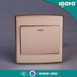 Igotoのイギリスの標準試料様式のホームのための金出現の壁スイッチ使用