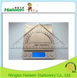 Hw-Tr18 사무실 18cm 삼각형 통치자 고정되는 2PC PVC 패킹 Haiwen 통치자 세트