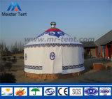 Restaurante de acampamento Yurt Mongolian do recurso da lona branca para viver