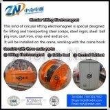 Elettromagnete di sollevamento circolare per il sollevamento d'acciaio dello scarto