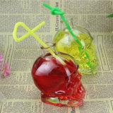 [400مل] يخلي جمجمة [وين بوتّل], جمجمة عصير زجاجة, جمجمة [بير بوتّل] مع فلينة غطاء