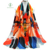 Starker Satin-Schal der Form-Dame-Scarf Colorful Pencil Printed