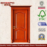 Porte d'entrée en bois massif en acajou pour appartement (GSP2-044)