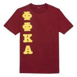 T-shirt fait sur commande de coton d'impression avec le logo fait sur commande pour Kingway (BG-M265)
