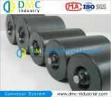 rodillos del transportador del negro de la rueda loca del transportador del HDPE del sistema de transportador del diámetro de 133m m
