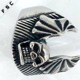 Presente de aniversário Especial Skull Health Stainless Steel Engrave Men Ring