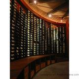 Cave s'arrêtante de crémaillère de vin en métal fixé au mur de décor de maison d'utilisation de barre