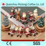 Presente personalizado venda por atacado dos ornamento dos Figurines do Natal de Polyresin mini