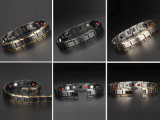 Le bracelet mâle d'acier inoxydable de qualité avec le porc noir a plaqué