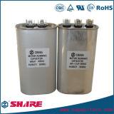 Caso de alumínio oval capacitor metalizado da película Cbb65 do Polypropylene