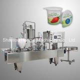 Автоматические завалка варенья плодоовощ и машина запечатывания для пластичной чашки