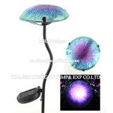 Lumière solaire de modèle de jardin de lumière de champignon de couche en métal de rue neuve de pieu