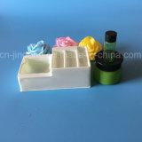 Plateau blanc de plastique de plateau de garniture intérieure de PVC Cosmestic