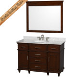 Gabinete transitório do banho da qualidade superior da única vaidade do banheiro do mármore do dissipador