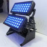 옥외 DMX 벽 세탁기 72PCS 10W LED Citycolor 빛