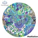 aduana de la mandala de OM del loto del arte del diámetro del 140cm impresa alrededor de la estera de la yoga de la meditación