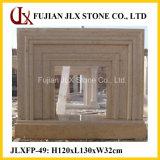 베이지색 대리석 현대 유형 돌 홈 장식적인 벽난로