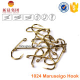 Argent / Or Acier à haute teneur en carbone 1024 Maruseigo Hook