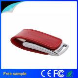 Custom Red Leather Engraving Logo USB Stick 16GB