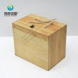 Cas en bois avec le cadre de empaquetage d'impression de blocage en métal