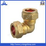 Codo de cobre amarillo masculino forjado con el extremo de la compresión (YD-6040)