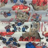 Tela de la ropa del poliester de la impresión con diseño divertido