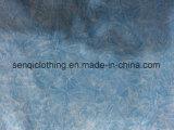 Sporswear Fw 8107에 있는 백색 그리고 파란 동점 염료 Burnouy 적당한 t-셔츠