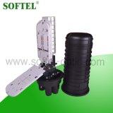 Recinto óptico del encierro del empalme de fibra de 48 bases con el divisor del PLC
