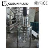 fermentador de vidro do fermentador Steriliation do laboratório in situ de 5L 7L 10L