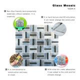 New Designs DIY Black Kitchen Wall Tiles Mosaico de vitrais