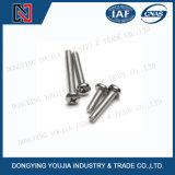 Parafusos Recessed cruz da cabeça da bandeja do aço ISO7045 inoxidável