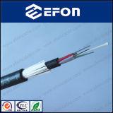 Tout le câble optique de fibre de double noyau non métallique diélectrique de la veste 12 (ADSS)
