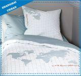 寮要素の世界地図の綿の羽毛布団カバー寝具セット