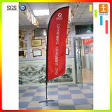 Bannière de drapeau en tissu plume en plein air