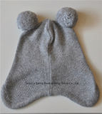 캐시미어 천 혼합 아기에 의하여 뜨개질을 하는 POM POM 모자 베레모 모자