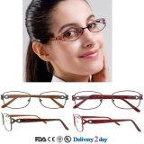 Blocchi per grafici di titanio alla moda degli occhiali del telaio dell'ottica di vetro dell'occhio degli occhiali delle signore