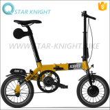 14 bicicleta elétrica de dobramento esperta da bicicleta da bateria 24V da E-Bicicleta da polegada