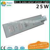 25W Tudo em um Sensor de movimento LED Luz de jardim solar ao ar livre de economia de energia