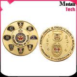 Da prata feita sob encomenda do ouro do metal do OEM moedas de cobre carimbadas bronze