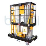 Plataforma da liga de alumínio do mastro/tabela de elevador de levantamento dobro