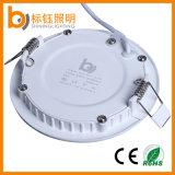 Luz de painel redonda AC85-265V do diodo emissor de luz da montagem interna 6W do resplendor do teto da lâmpada da iluminação