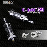 La bobina doppia E di Cig all'ingrosso di Seego G-Ha colpito l'atomizzatore di vetro del profumo dell'alloggiamento K2
