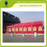 белые ткани Rolls брезента PVC 850GSM Coated для шатров Tb033