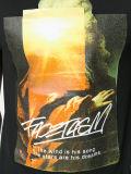 人の黒い綿によって印刷されるTシャツ